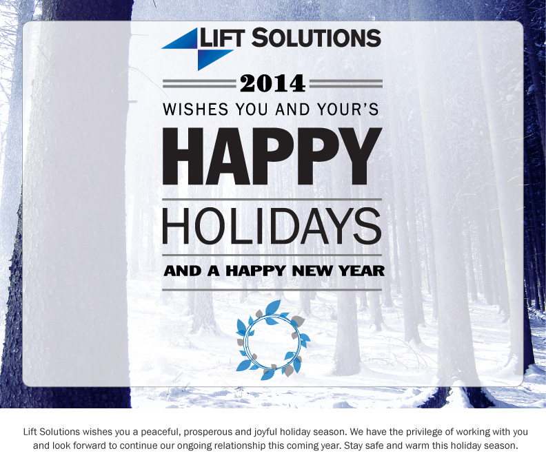 Lift Solutions Happy Holidays